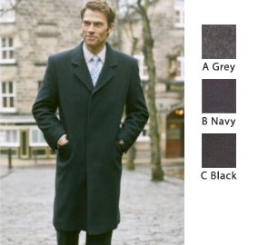 Brook Taverner Classic Overcoat: 60% Wool 20% Cashmere 20% Polymide single breasted three button fly front Overcoat with centre vent with two flap side