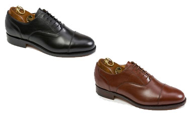 e769f733c36ae Sanders Plain Cap Oxford Shoe: Classic plain cap oxford shoe with calf  leather uppers. full leather lining and good year welted leather soles.