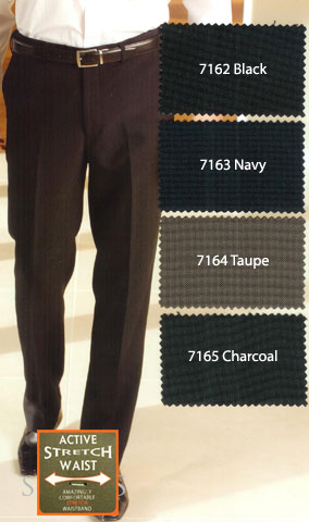 Skopes Expandable waist Trousers: 100% polyester. Expandable waistband,  giving a self adjusting extra 2